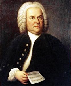 Johann Sebastian Bach im Alter von 61 Jahren, von Elias Gottlob Haussmann, Kopie oder Zweitversion seines Gemäldes von 1746, Privatbesitz von William H. Scheide, Princeton, New Jersey, USA / Wikipedia Commons