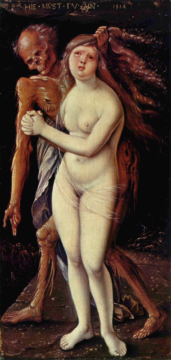 Hans Baldung: Der Tod und das Mädchen, 1517; Basel, Kunstmuseum; Quelle: Wikimedia Commons / The Yorck Project: 10.000 Meisterwerke der Malerei. DVD-ROM, 2002. ISBN 3936122202. Distributed by DIRECTMEDIA Publishing GmbH.