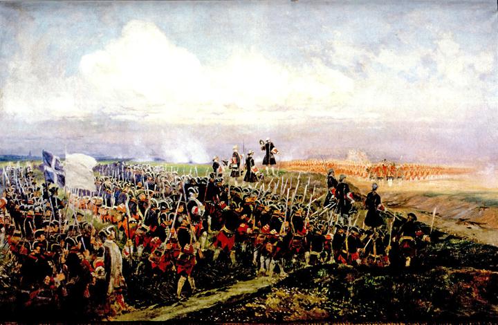 Schlacht bei Fontenoy im Jahre 1745 (Gemälde von Edouard D'Etaille) / Quelle: Wikimedia Commons