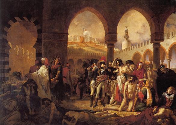 Antoine-Jean Gros: Bonaparte bei den Pestkranken von Jaffa, 1804; Paris, Louvre; Source/Photographer: Musée du Louvre