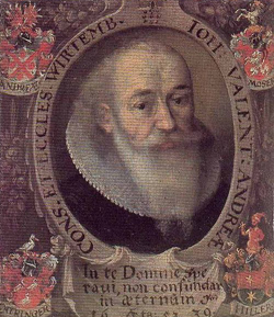 Johann Valentin Andreae (1586-1642), Quelle: Wikimedia Commons / http://homepages.tesco.net/~eandcthomp/aaa.htm