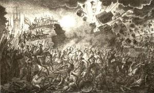 Belagerung von Pskov durch Stephen Báthory und seine Truppen,