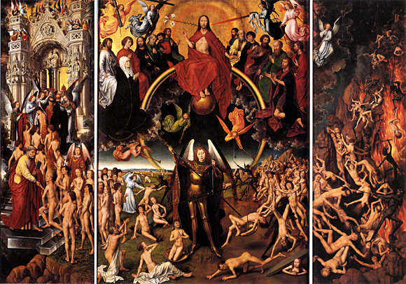 Hans Memling: Altar des Jacopo Tani, Mitteltafel: Jüngstes Gericht, 1471/73; Gdansk, Muzeum Pomorskie