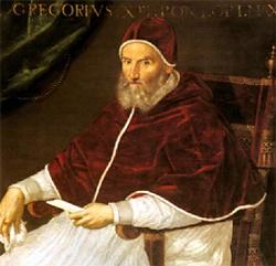 Porträt Papst Gregors XIII. von der italienischen Malerin Lavinia Fontana; Quelle Wikimedia Commons / Source Unknown