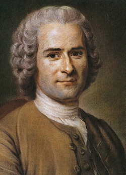 Portrait von Jean-Jacques Rousseau (1712–1778) von Maurice Quentin de La Tour; Momentaner Standort: Musée Antoine Lécuyer, Saint-Quentin; Quelle: originally uploaded to en by User:Sir Paul / Wikimedia Commons