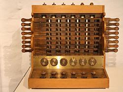 Nachbau der Rechenmaschine von Wilhelm Schickard, 1623; Quelle: Wikipedia Commons / Herbert Klaeren