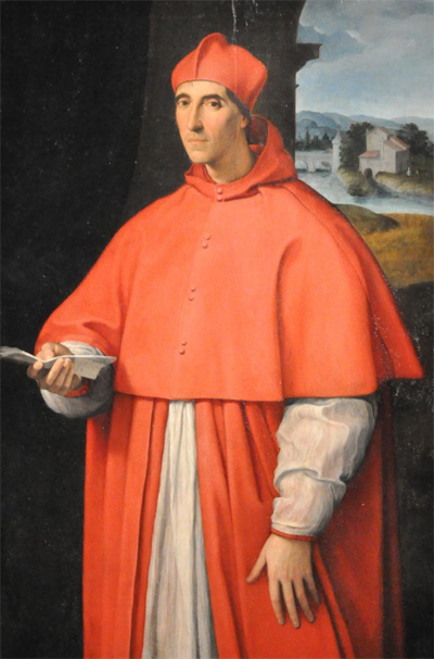 Raffael: Portät von Alessandro Farnese, dem späteren Papst Paul III., ca. 1512, National Museum of Capodimonte. Quelle: Wikimedia Commons