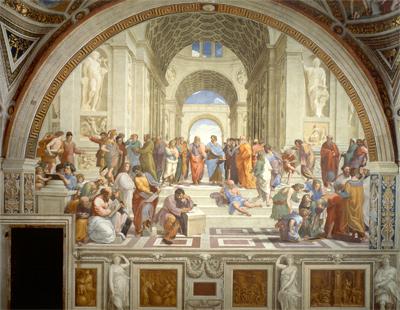 Raffael: Schule von Athen, 1509–1510, Stanza della Segnatura, Vatikanstaat