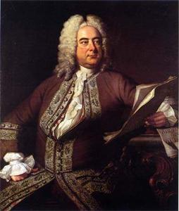 Georg Friedrich Händel, deutscher/britischer Komponist. Porträt des britischen Malers Thomas Hudson (1701-1779) aus dem Jahre 1741. Quelle: Wikimedia Commons / unbekannt