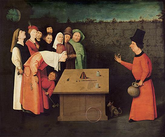 Hieronymus Bosch: Der Gaukler, um 1500; Bild: 5.555 Meisterwerke. © 2000 DIRECTMEDIA Publishing GmbH