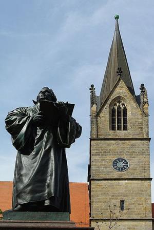 Luther-Denkmal in Erfurt; Bild: Michael Schnell