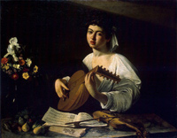 Caravaggio: Der Lautenspieler, ca. 1595. The Yorck Project: 10.000 Meisterwerke der Malerei. DVD-ROM, 2002. ISBN 3936122202. Distributed by DIRECTMEDIA Publishing GmbH.